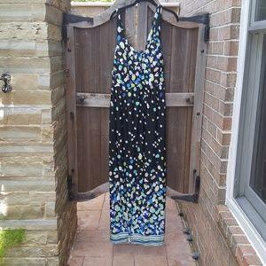 Bright modern maxi dress with beautiful bodice